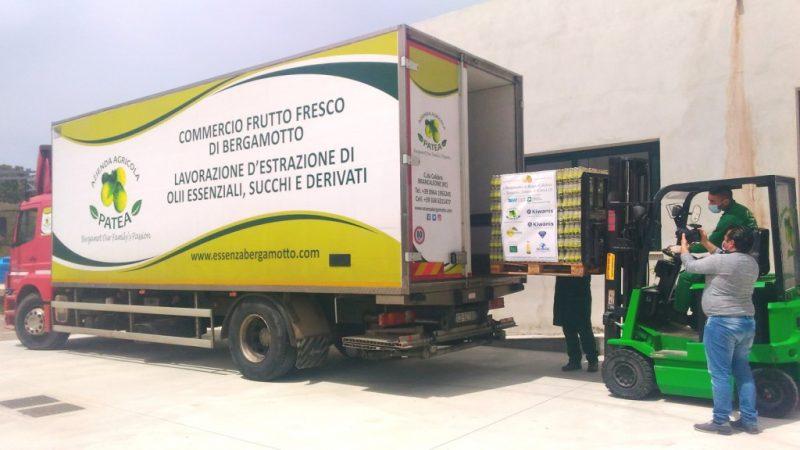 Il bergamotto della solidarietà: da Reggio al nord… succo di bergamotto agli ospedali Covid di Roma e di Bergamo