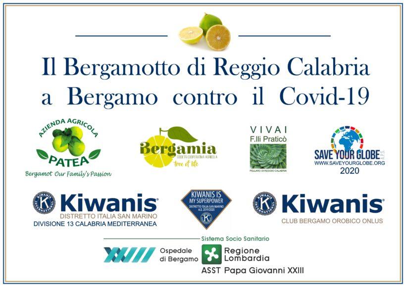 Il bergamotto di Reggio Calabria agli ospedali Covid di Roma e Bergamo
